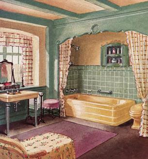 1930 An Ideal Bathroom Vintage Badezimmer Altmodische Hauser Landhaus Einrichtung