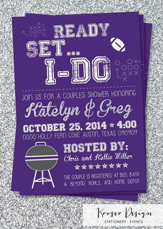 tailgate football theme couples bridal shower by kooserdesign