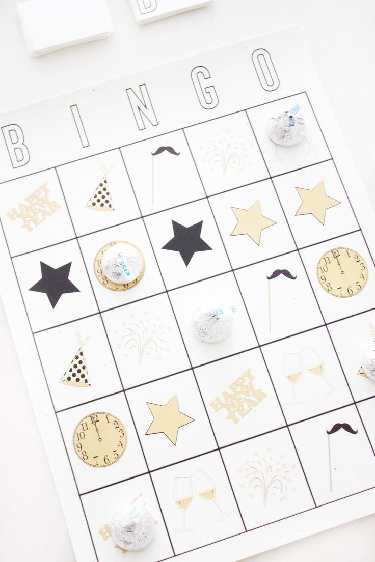 New Year's Eve 2019 Free Printable New Years Eve Bingo