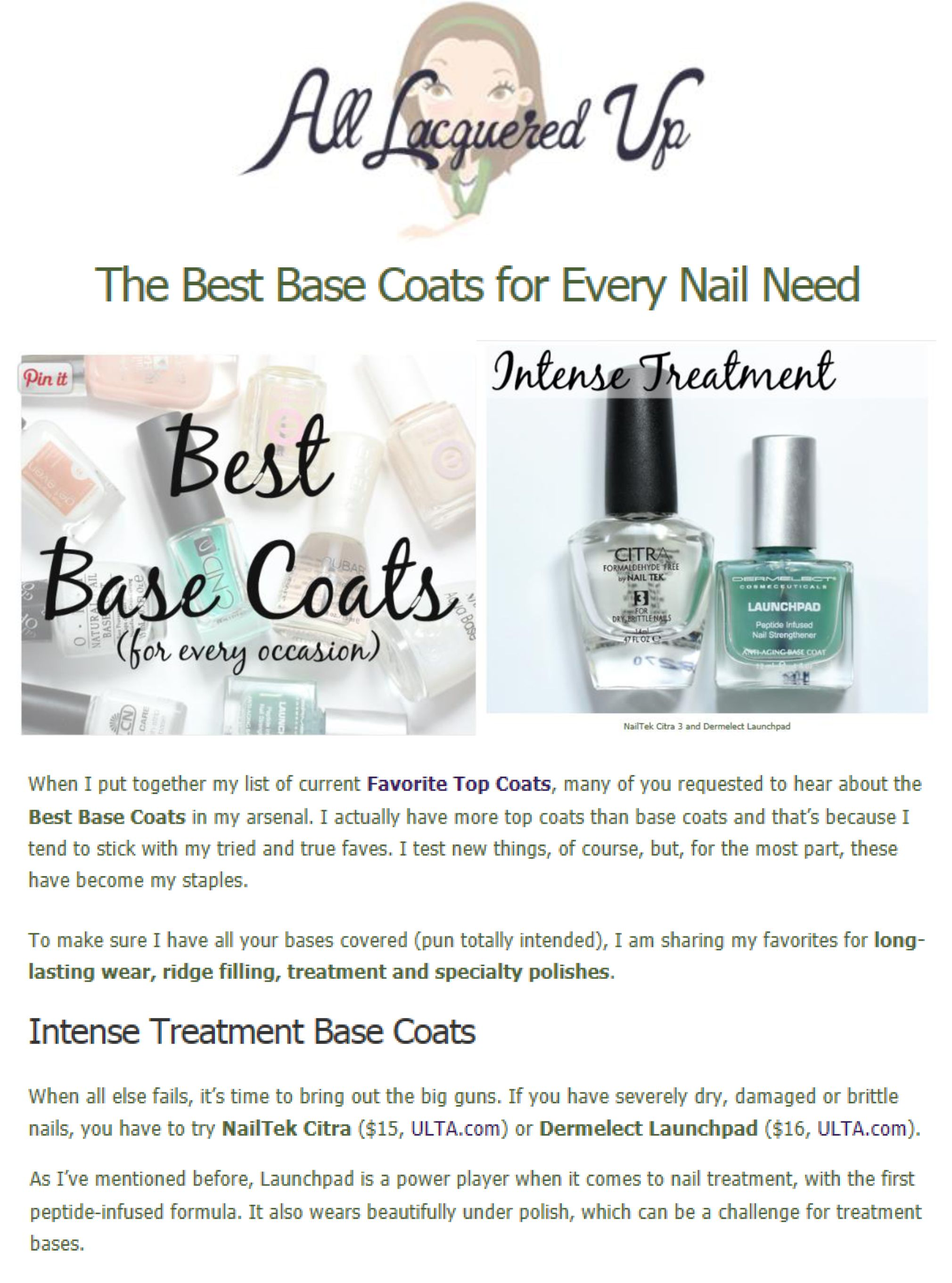 The Best Base Coats for Every Nail Need | Pedicures and Manicure