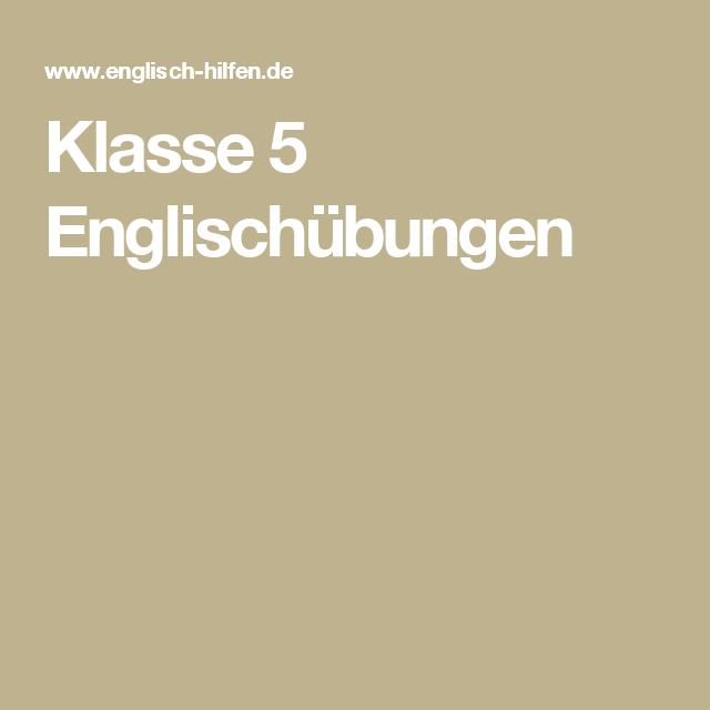 Klasse 5 Englischübungen | Schule | Pinterest | Klasse und Schule