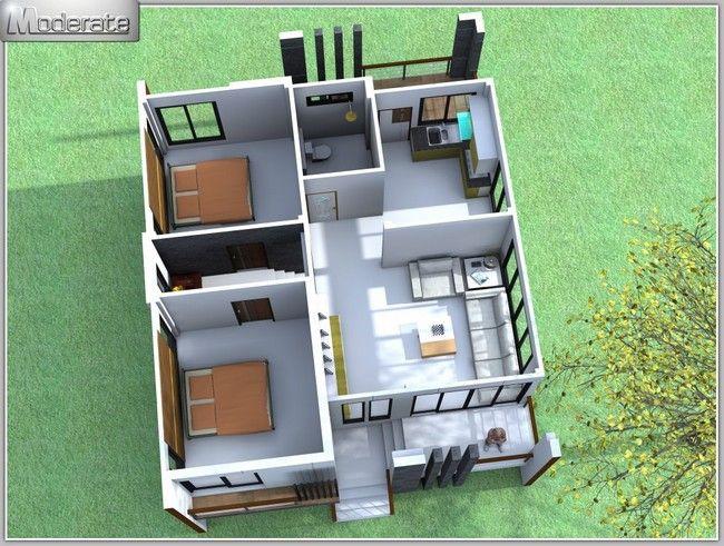 แบบบ านโมเด ร นช นเด ยวงบไม เก นล าน Md16 One Storey House Best Modern House Design Small House Design Philippines
