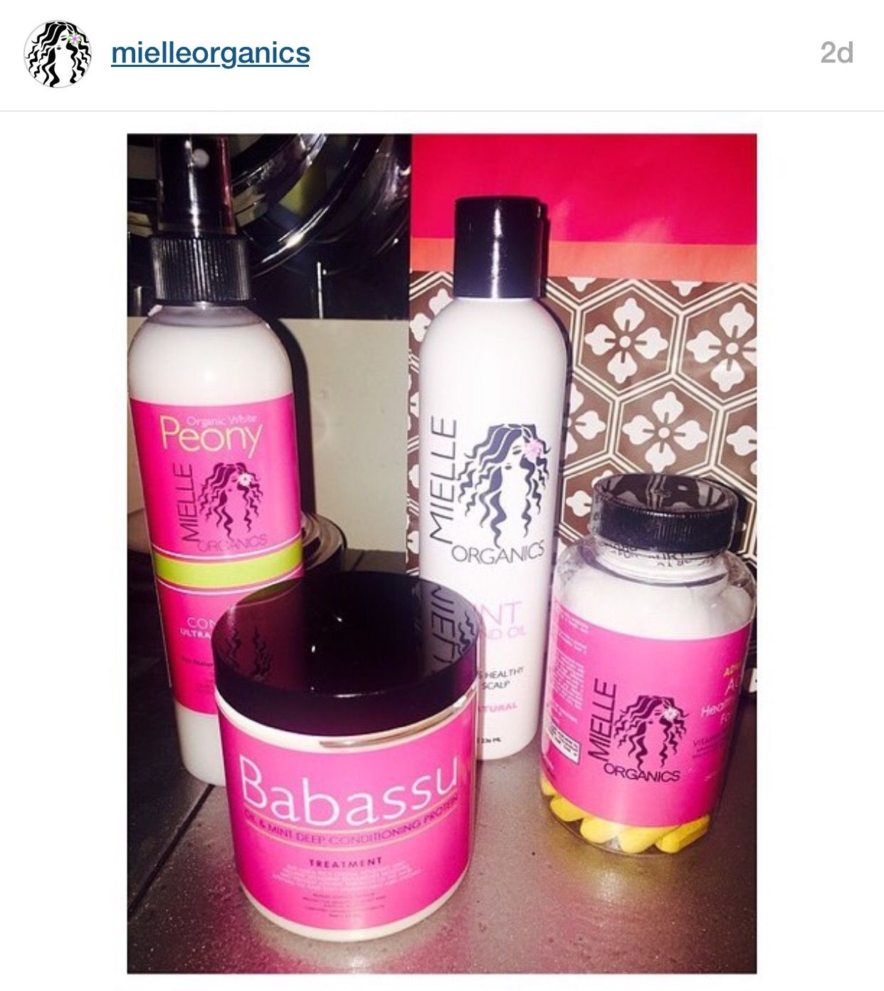 Mielle Organics products...check them out via Instagram