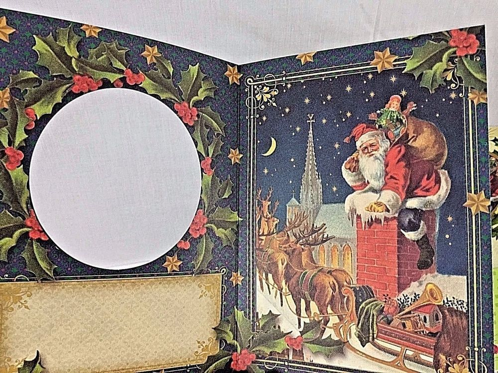 PUNCH STUDIO DIE-CUT Gold Foil Merry Christmas Cards with Envelopes ...