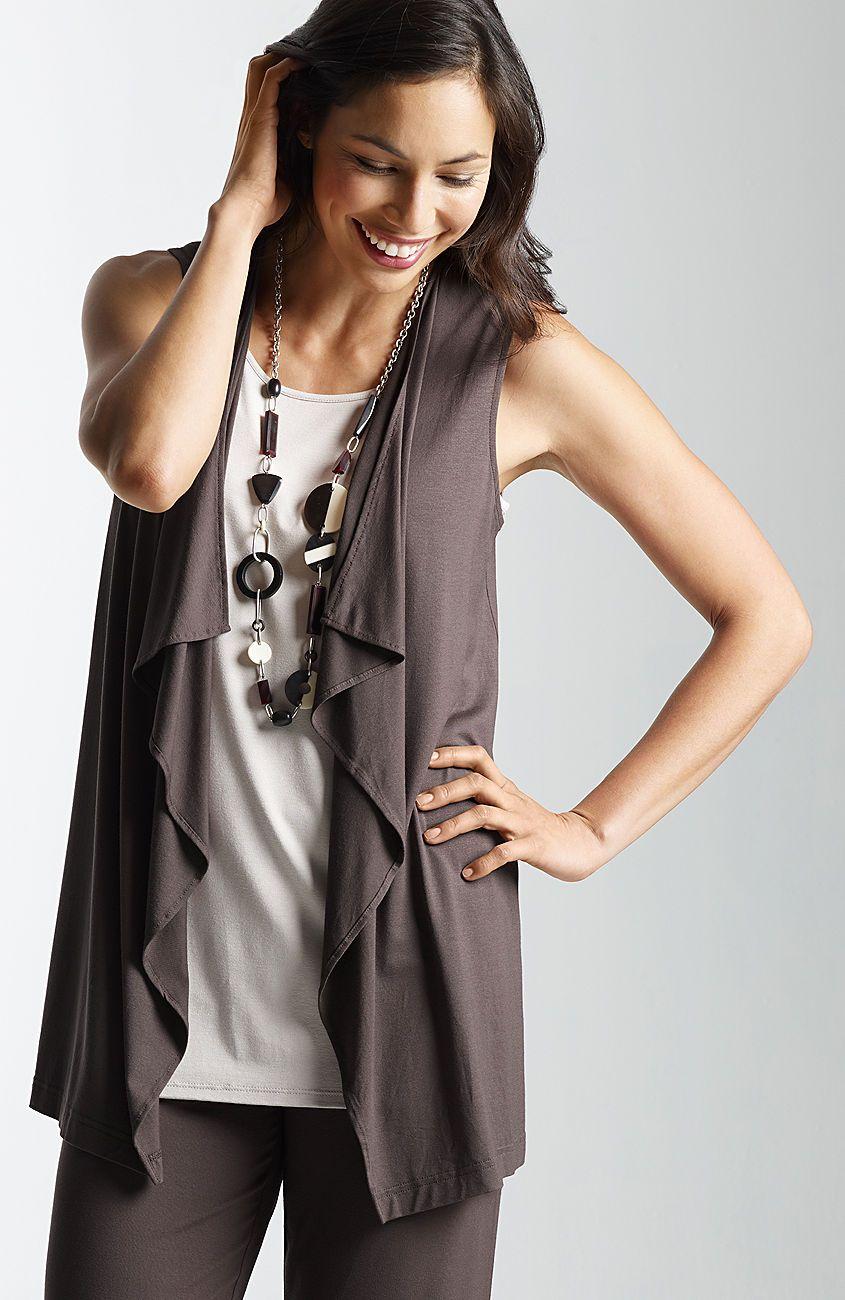 New Wearever Cascade Vest J Jill