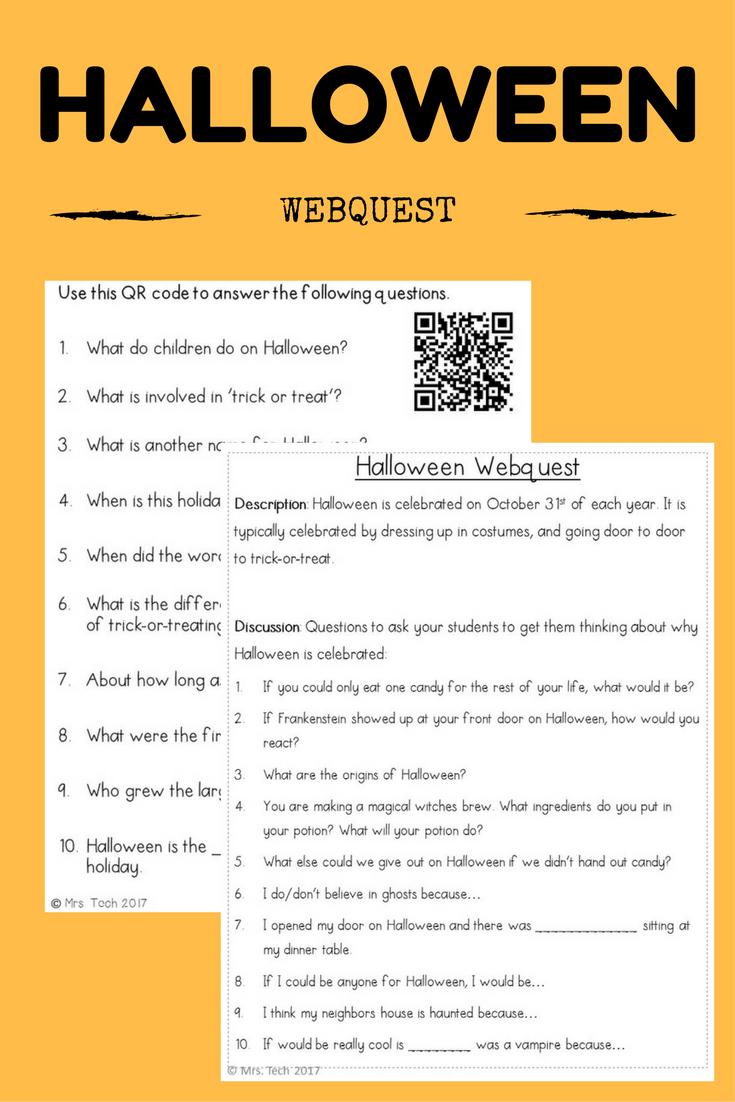 halloween webquest | mrs. tech products | pinterest | activities