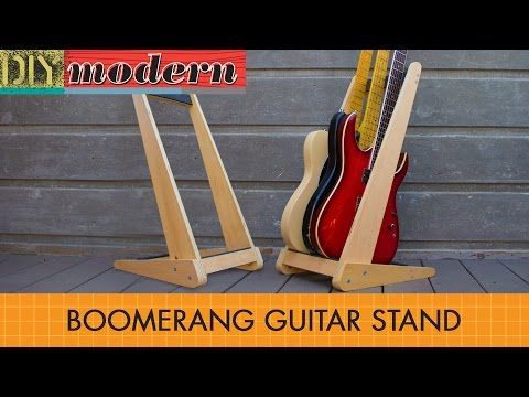 Diy make a boomerang guitar stand diy modern lutherie do it yourself projects for the modern crib solutioingenieria Gallery
