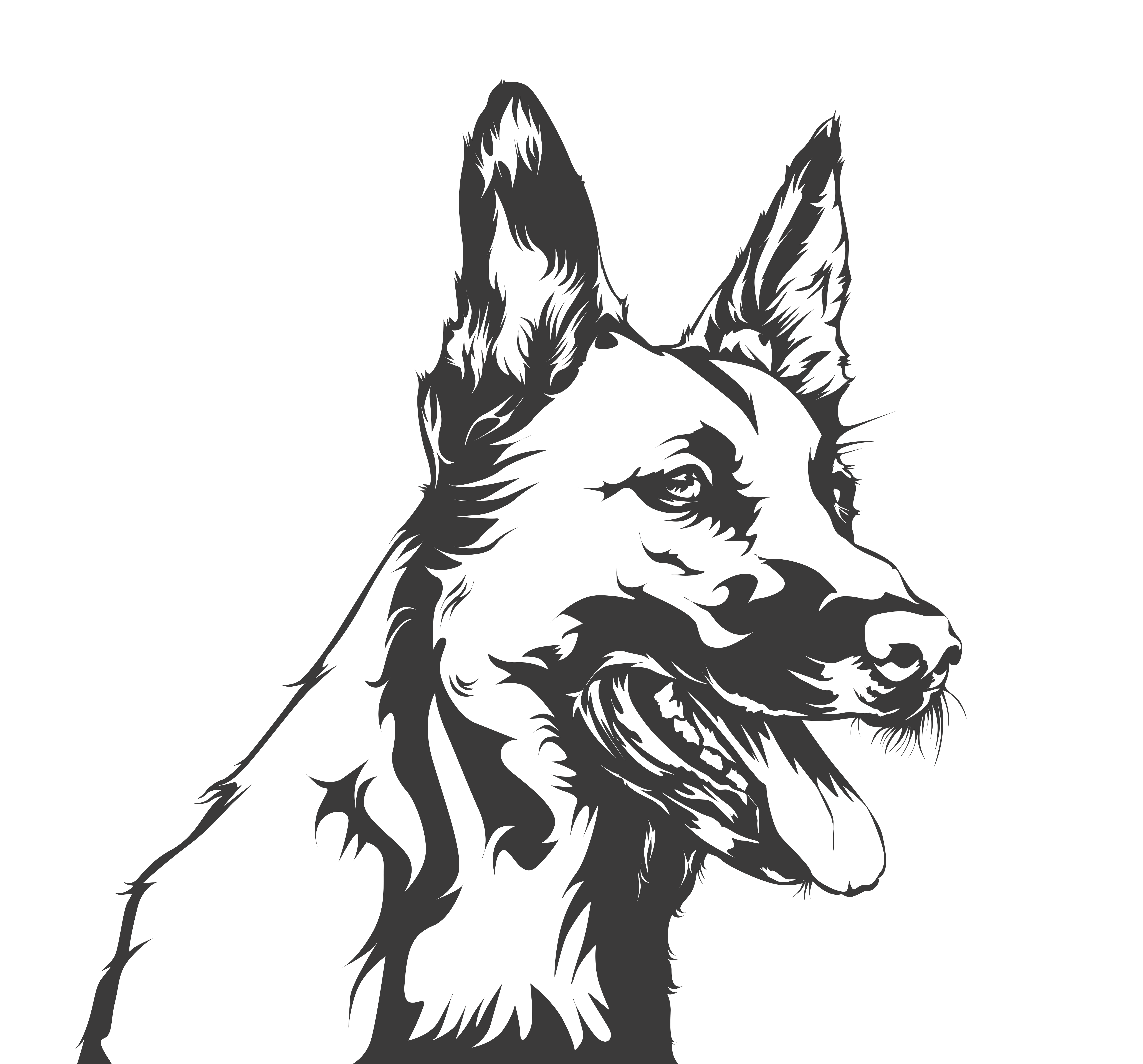 German shepherd art image by Mckirbz on Vector arts X Tee
