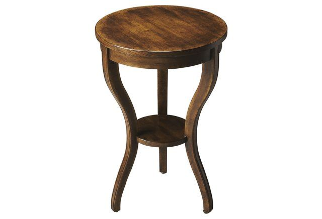 Lois Side Table, Rustic Java