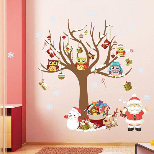 ElecMotive Weihnachtsdeko Weihnachtsgeschenke Abnehmbare - wandtattoos f r wohnzimmer
