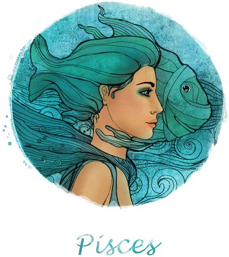 Знак зодиака рыбы рисунок женщина