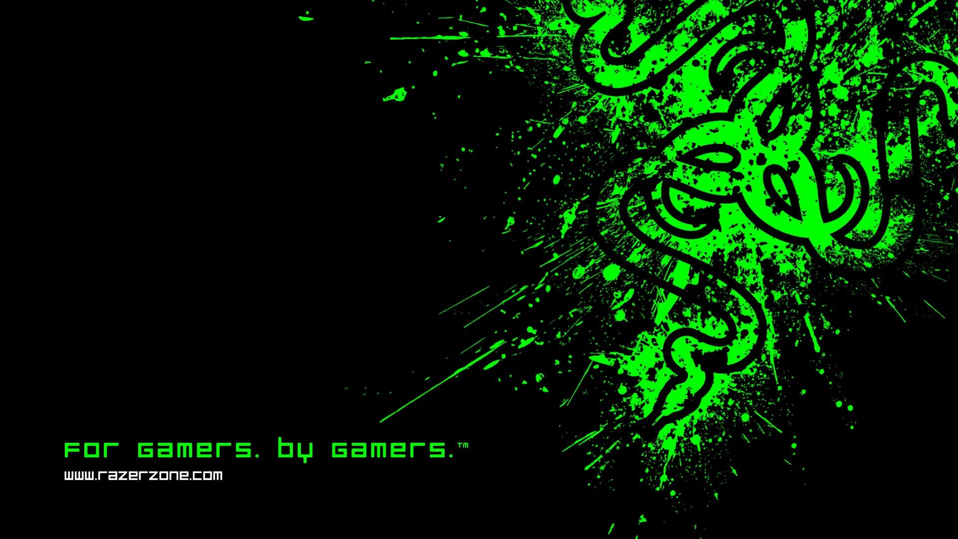 Wallpaper 1920x1080 Full Hd 1080p 1080i Razer Symbol Logo Black