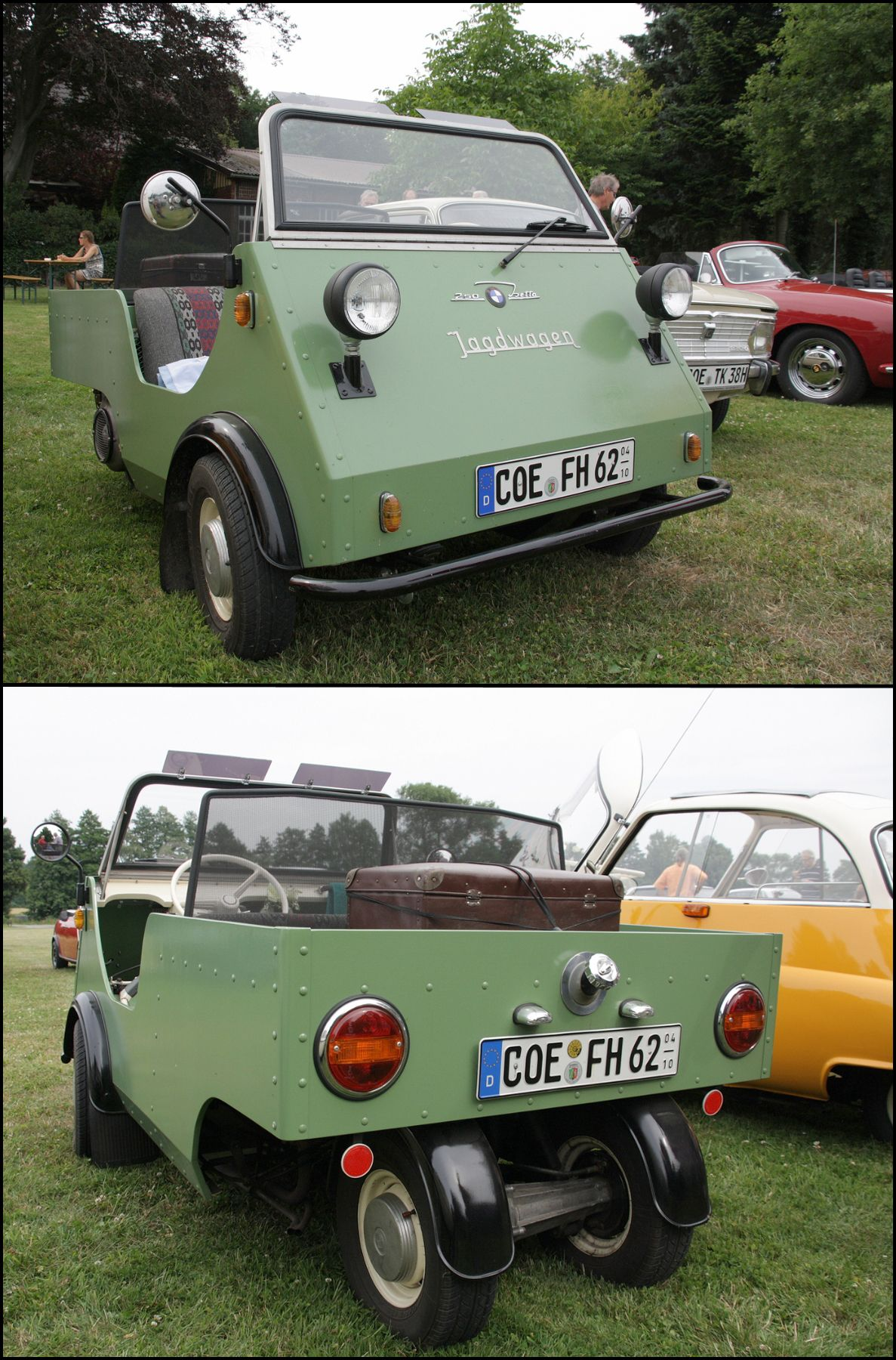 1955 BMW Isetta Jagdwagen (Hunting Car). A busy executive needs a ...