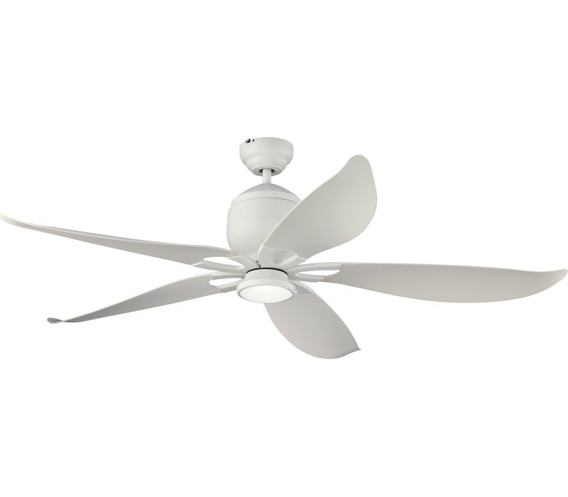 Monte Carlo 5llr56bsd V1 Lily 56 Outdoor High Airflow Ceiling Fan With Led Light And Remote Brushed Steel Ceiling Fan With Light Ceiling Fan Ceiling Fan With Remote