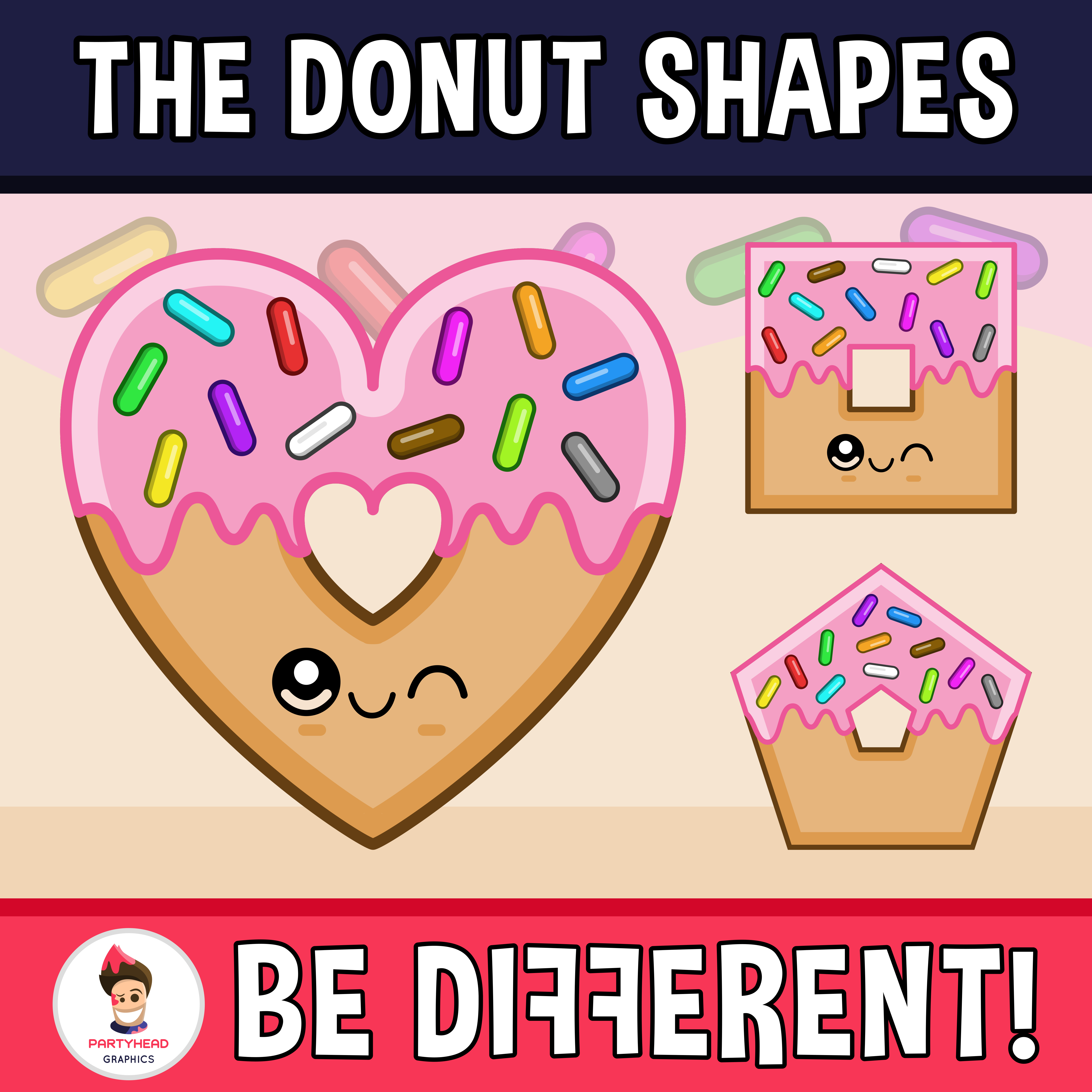 Donut Shapes Clipart