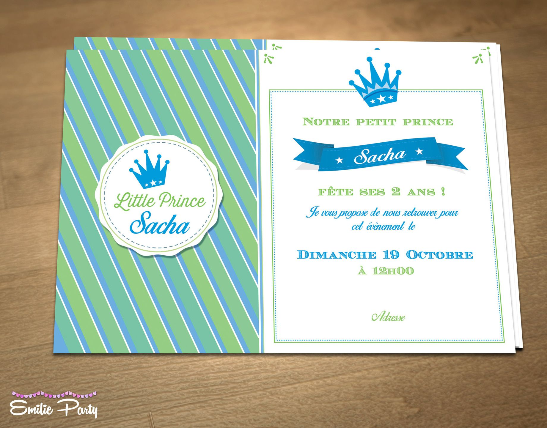 Birthday or christening, personalized, printable invitation, theme ...