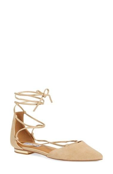 fa58c7c0d70 Free shipping and returns on Steve Madden  Sunshine  Lace-Up Flat (Women)  at Nordstrom.com. Gleaming hardware at the heel elevates a streamlined  lace-up ...