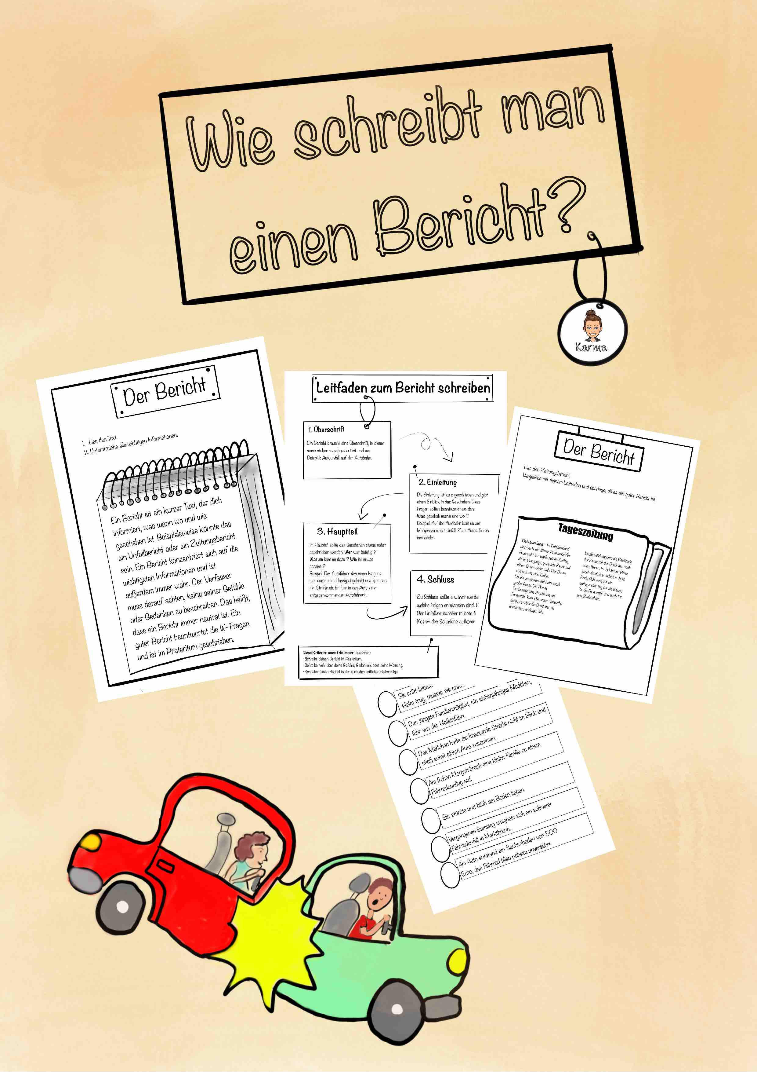 Wie Schreibt Man Einen Bericht Arbeitsheft Unterrichtsmaterial Im Fach Deutsch In 2020 Schreiben Aufsatz Schreiben Deutsch Unterricht
