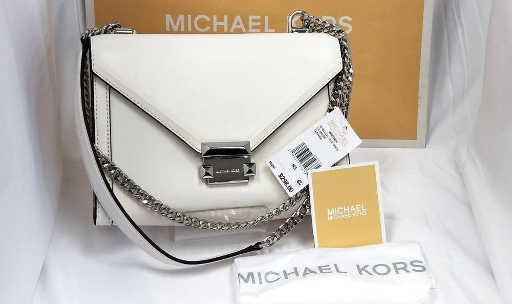 caa4c6f6334980 NWT Michael Kors Whitney Large Shoulder Bag- OPTIC WHITE ·  #MichaelMichaelKors #ShoulderBag