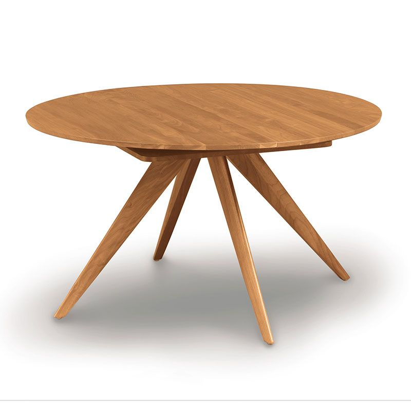 Catalina Cherry Round Extension Table With Images Extendable