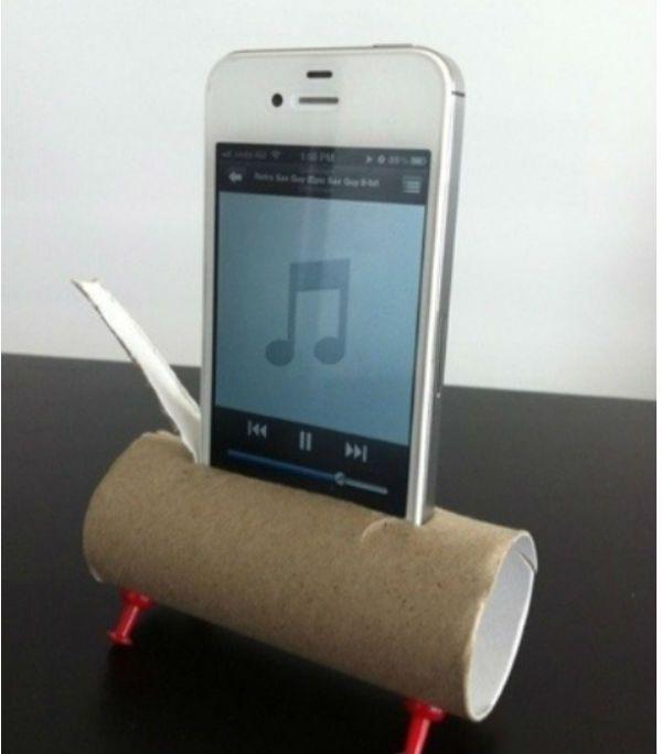 parlante improvisado para el Iphone