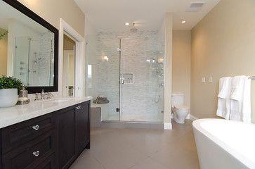 You Can Achieve A Similar Look With Akdo S Heavy Rain Kind Of Tile In The Shower Houzz Modern Bathroom Design Bathroom Design