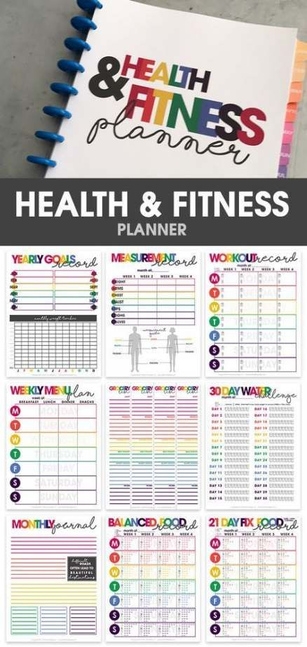45 Trendy Ideas For Fitness Planner Journals Weight Loss #fitness