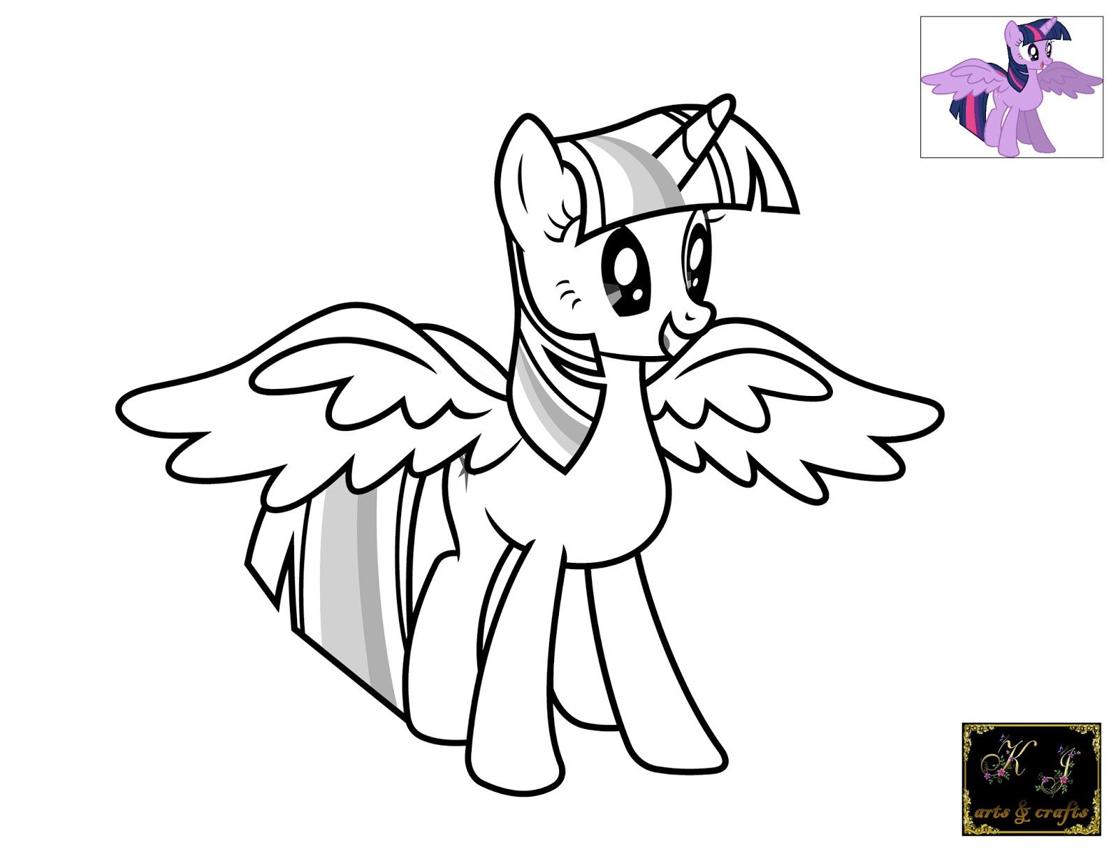 My Little Pony Coloring Pages Twilight Sparkle With Wings Free