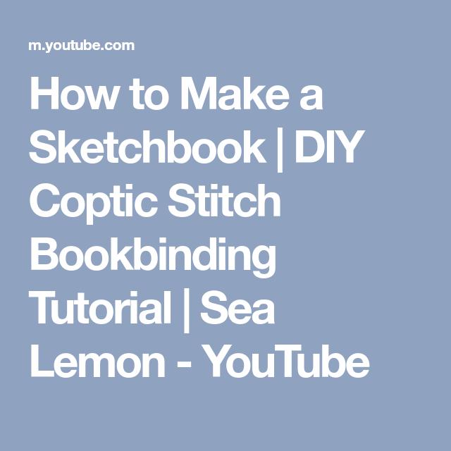 DIY Coptic Stitch Bookbinding
