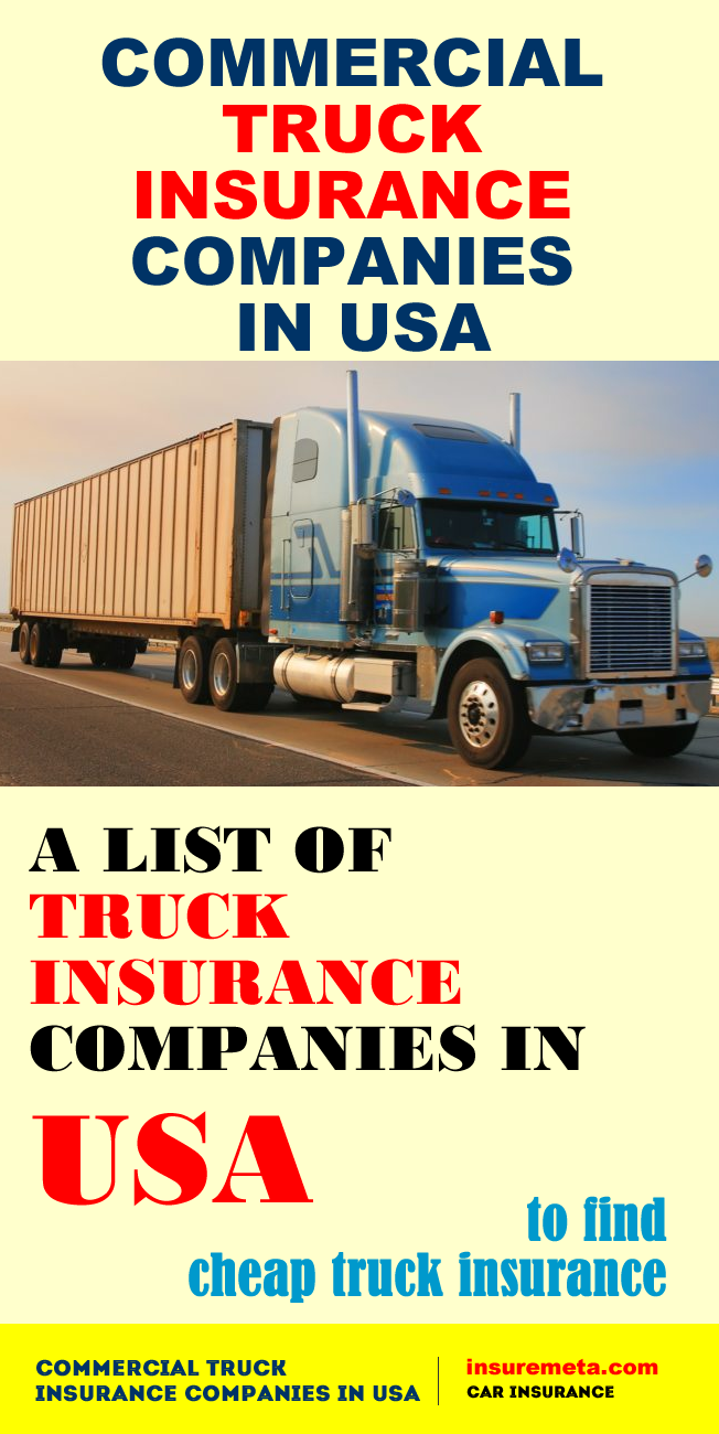 Commercial Truck Insurance Companies In Usa With Images