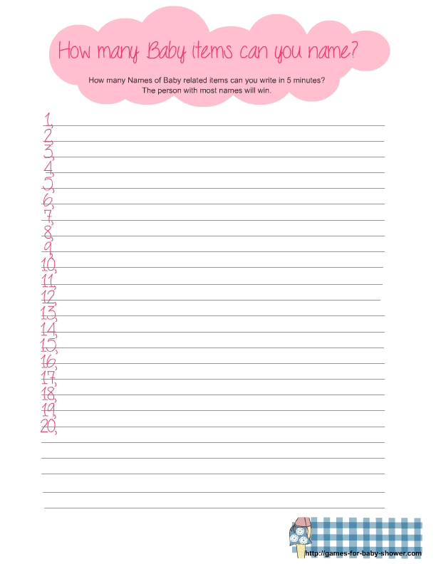 Free Printable Baby Shower Games Baby Shower Printables Baby Shower Souvenirs Girl
