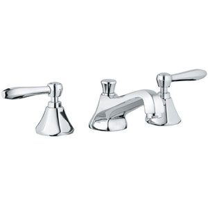 Exceptionnel Grohe 20 133 Somerset Widespread Bathroom Faucet With SilkMove Technology    Free Starlight Chrome Faucet Lavatory Double Handle