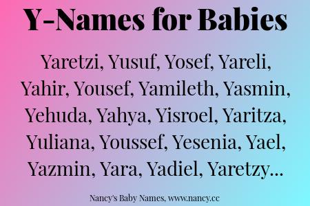 Y Names For Babies Baby Girl Names Baby Names Names Boy Names