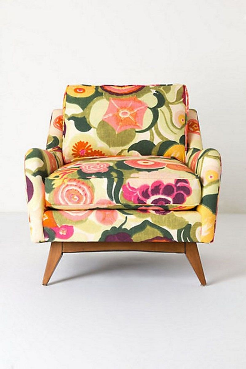 Exotic Floral Armchair By Anthropologie