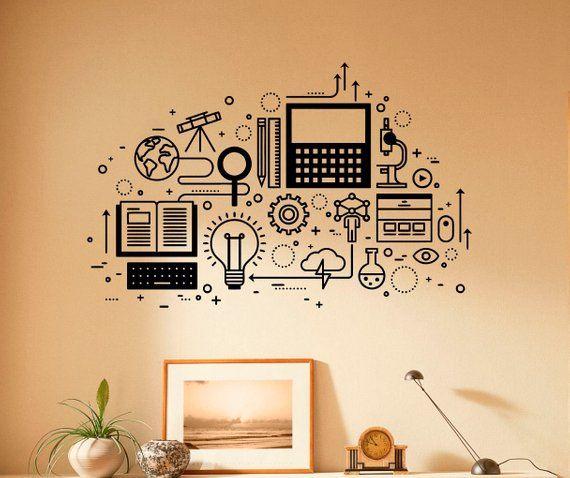 Computer Technology Wall Decal Vinyl Sticker Science