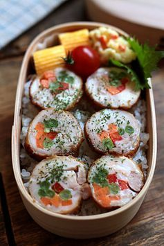 Chicken and Vegetable Roll Bento