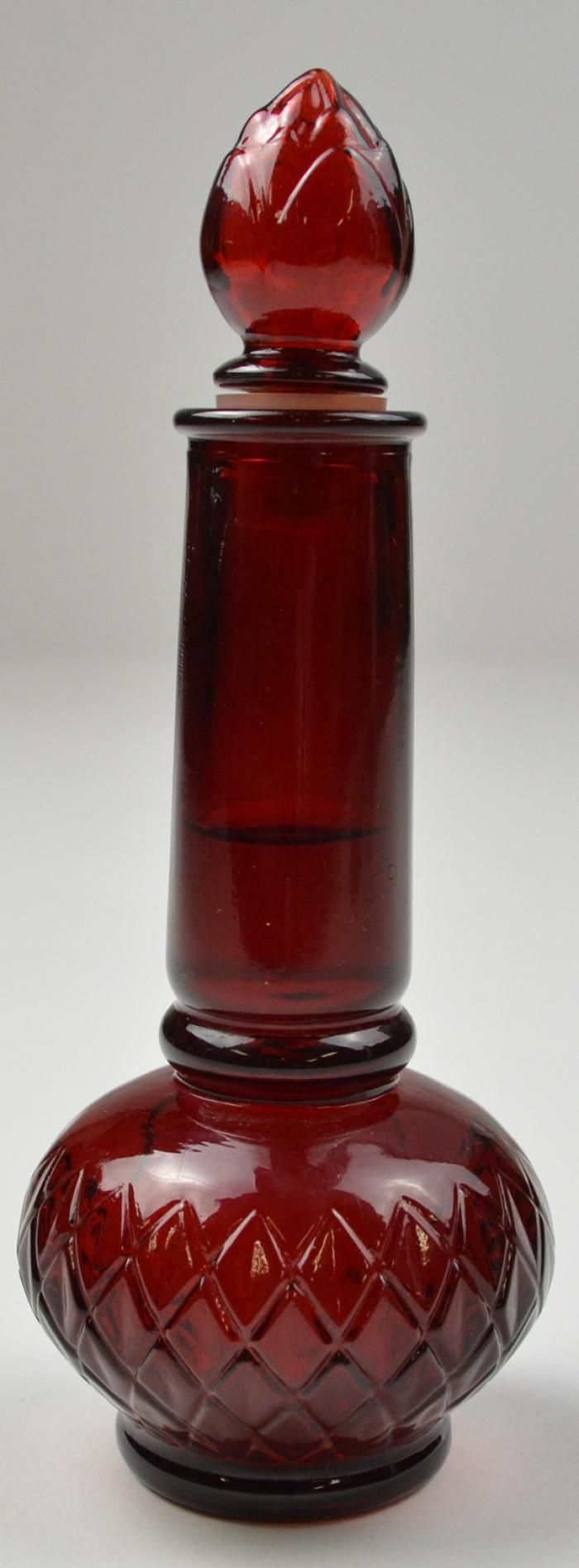 vintage avon ruby red topaz cologne bottle 7 tall snagged for 99