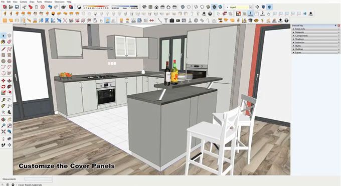 David B Has Developed 2018 Click Kitchen 2 An Exclusive Sketchup Plugin That Can Be Applied To Create The Drawing Of Your 3d Ikea Furniture Kitchen Furniture