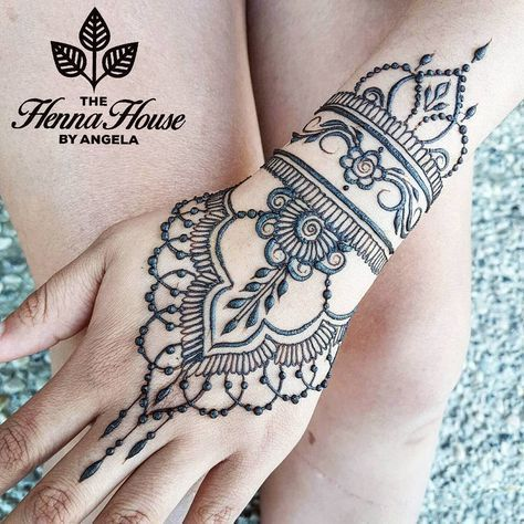 """The Henna House by Angela on Instagram: """"Henna for a first timer! Starting off simple"""