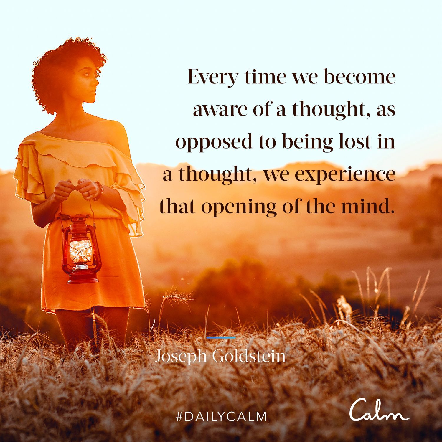 "Daily Calm Quotes ""Every time we aware of a"