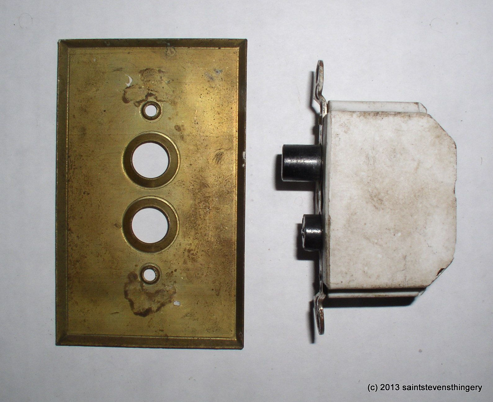 1918 Light Switches Vintage Arrow Push On Switch Br Plate Cover