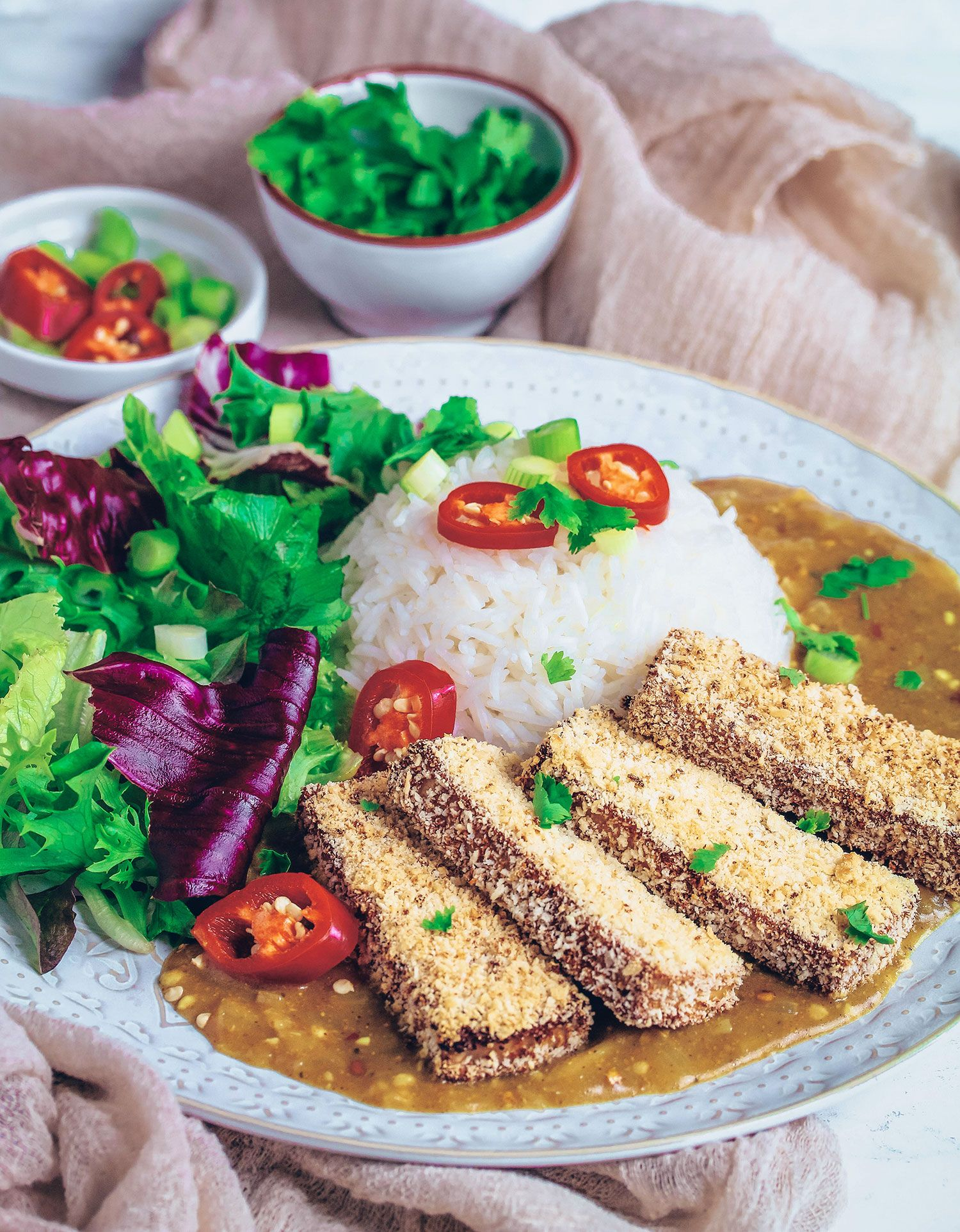 Tofu Katsu Curry (Vegan & Glutenfree Healthy baking