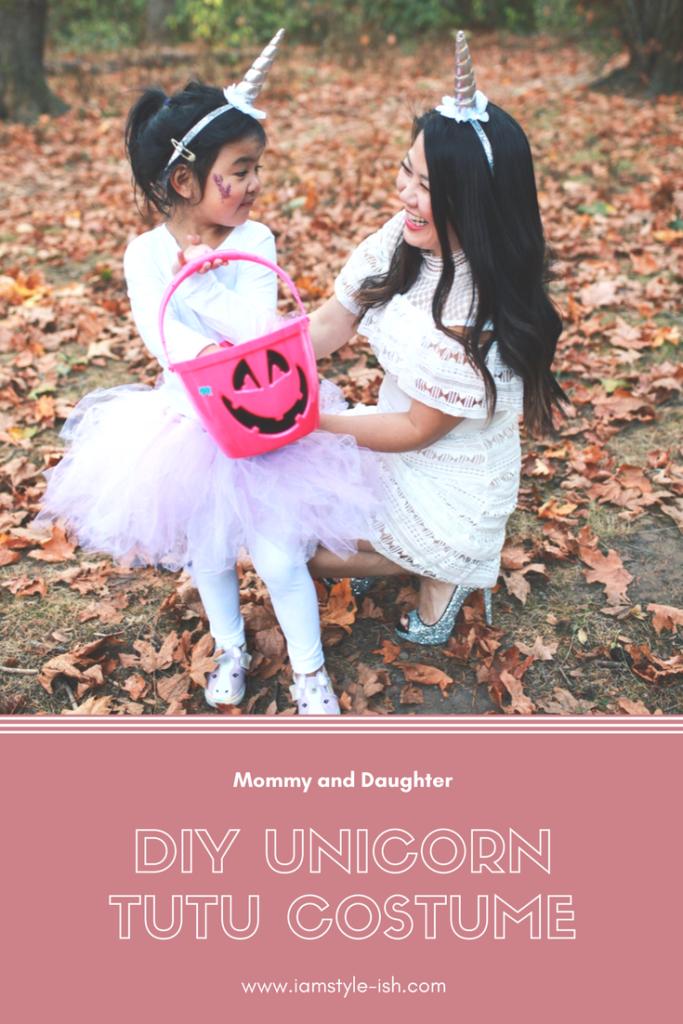22bc949f52 DIY Unicorn Costume Tutu - Halloween Costumes for mom and daughter ...