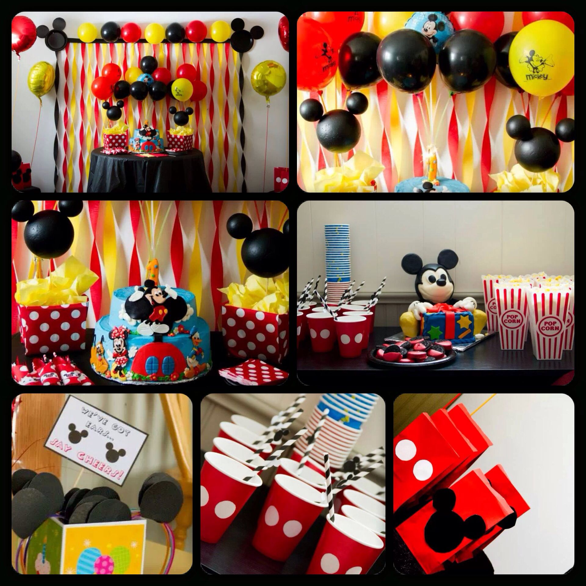 My sons first birthday .. Mickey Mouse theme