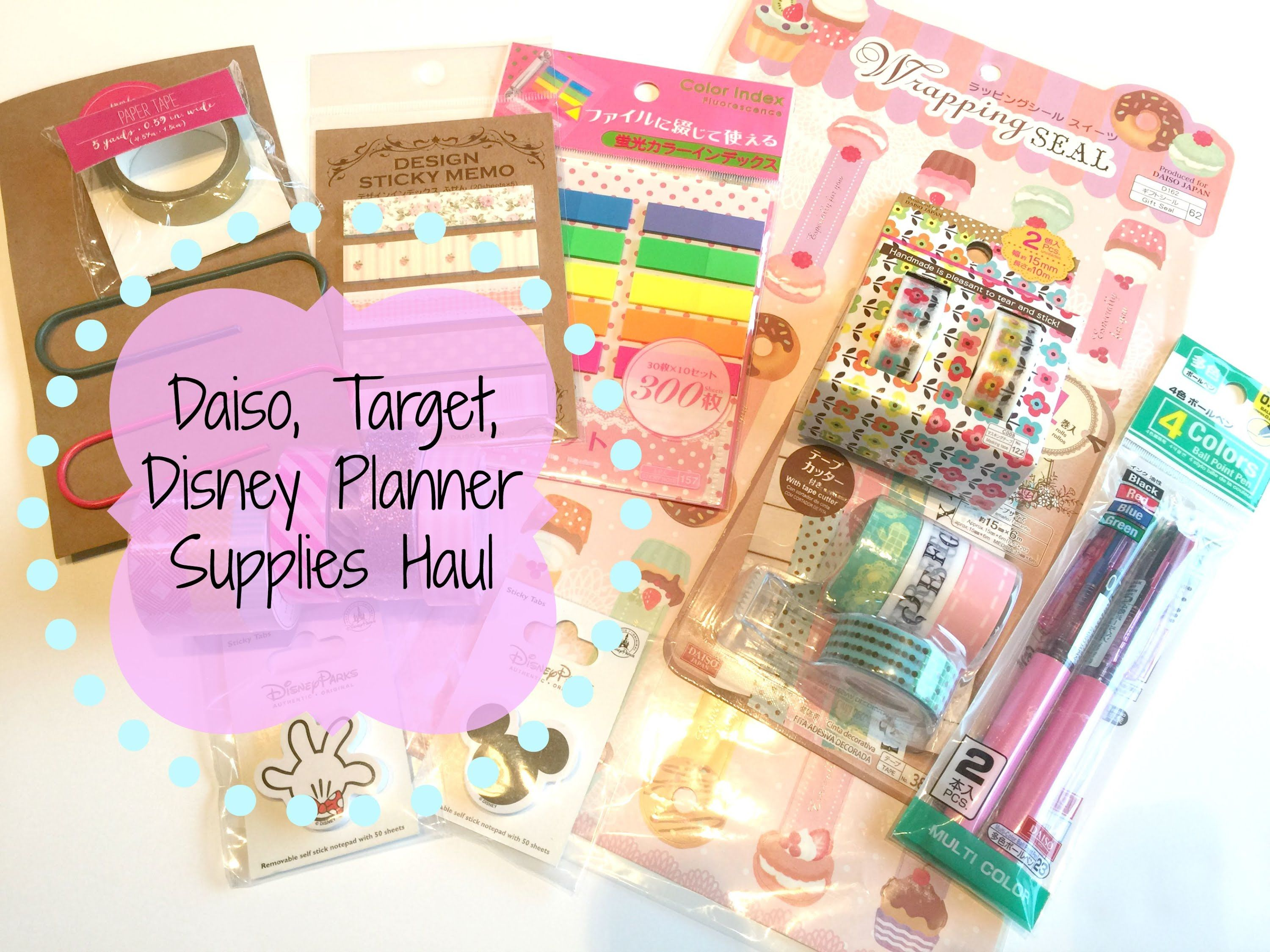picture about Planner Supplies known as HAUL Daiso, Concentrate, Disney Planner Elements System Your Everyday living