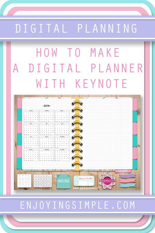 How to Create a Digital Planner with Hyperlinks in Keynote — Enjoying Simple