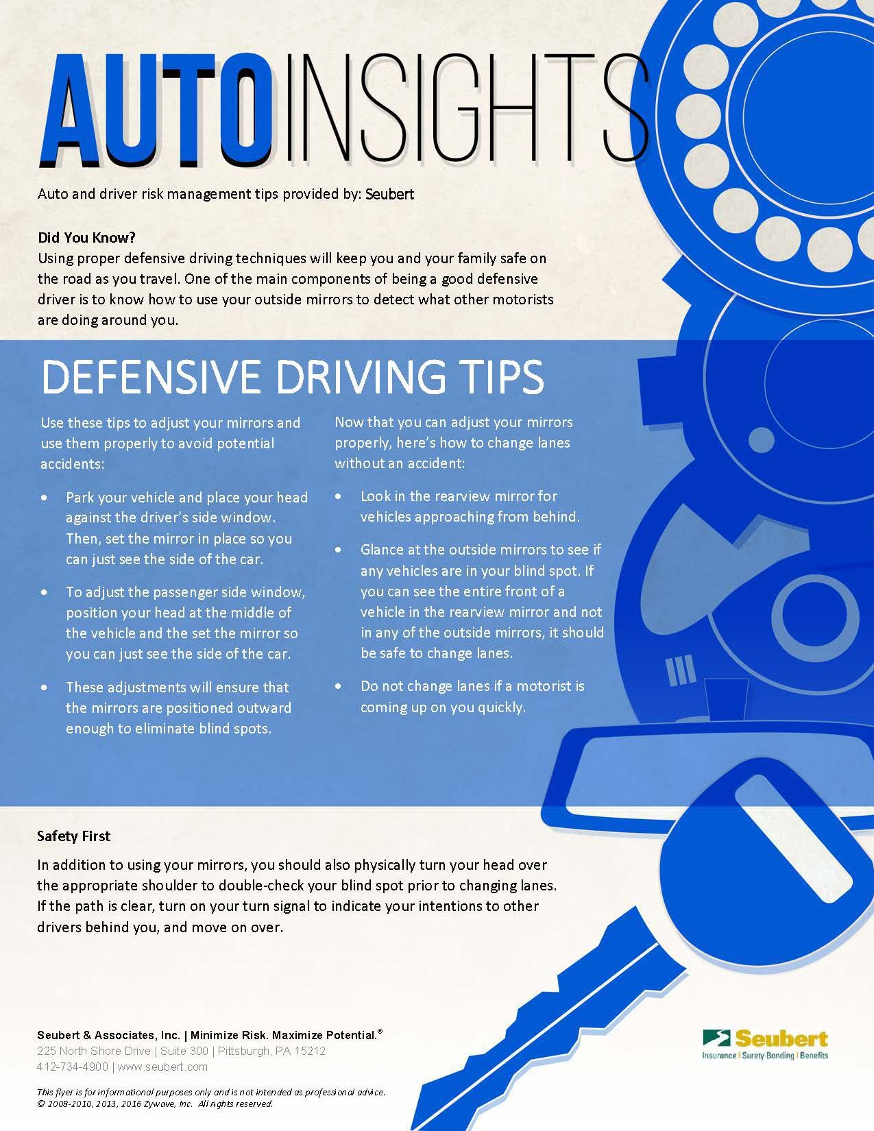 Auto Insights Defensive Driving Tips Auto, Risk management
