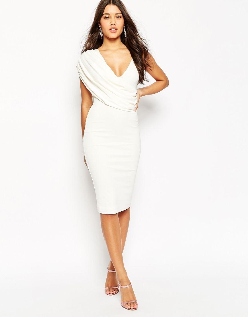 White One Shoulder Summer Dress