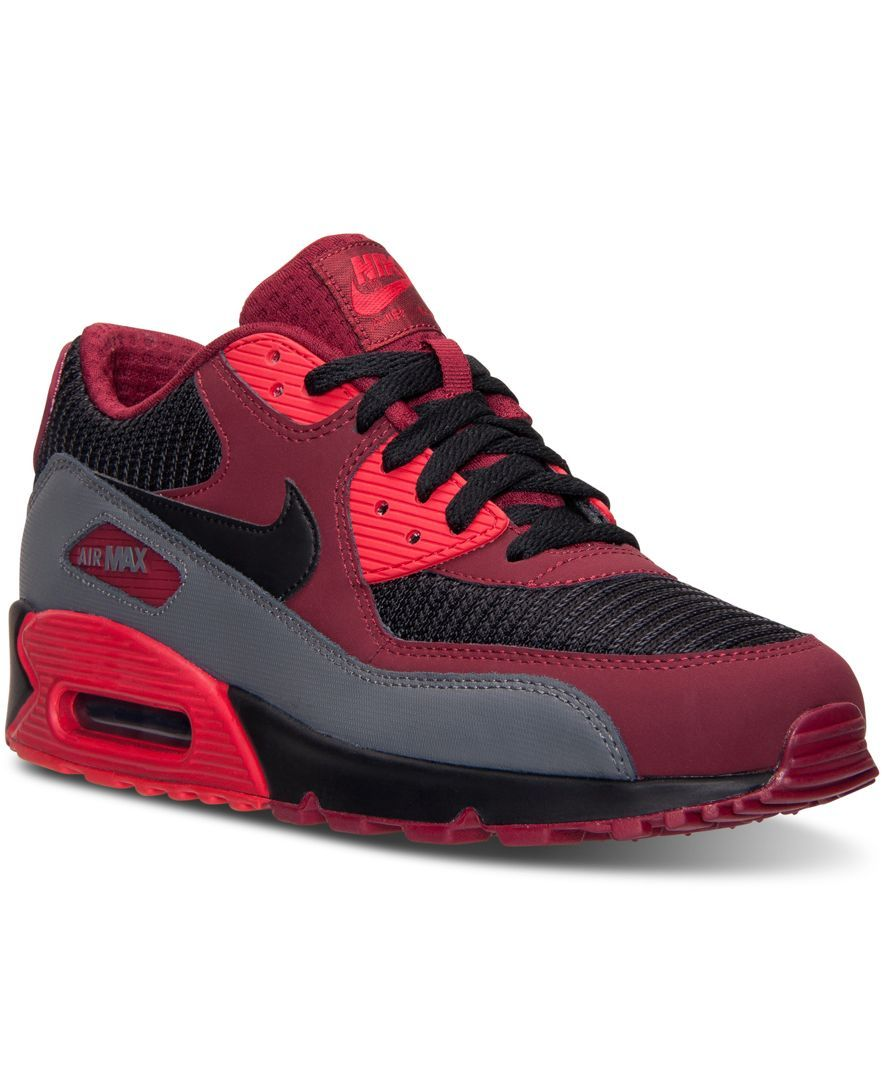 Nike Men's Air Max 90 Essential Running Sneakers from Finish