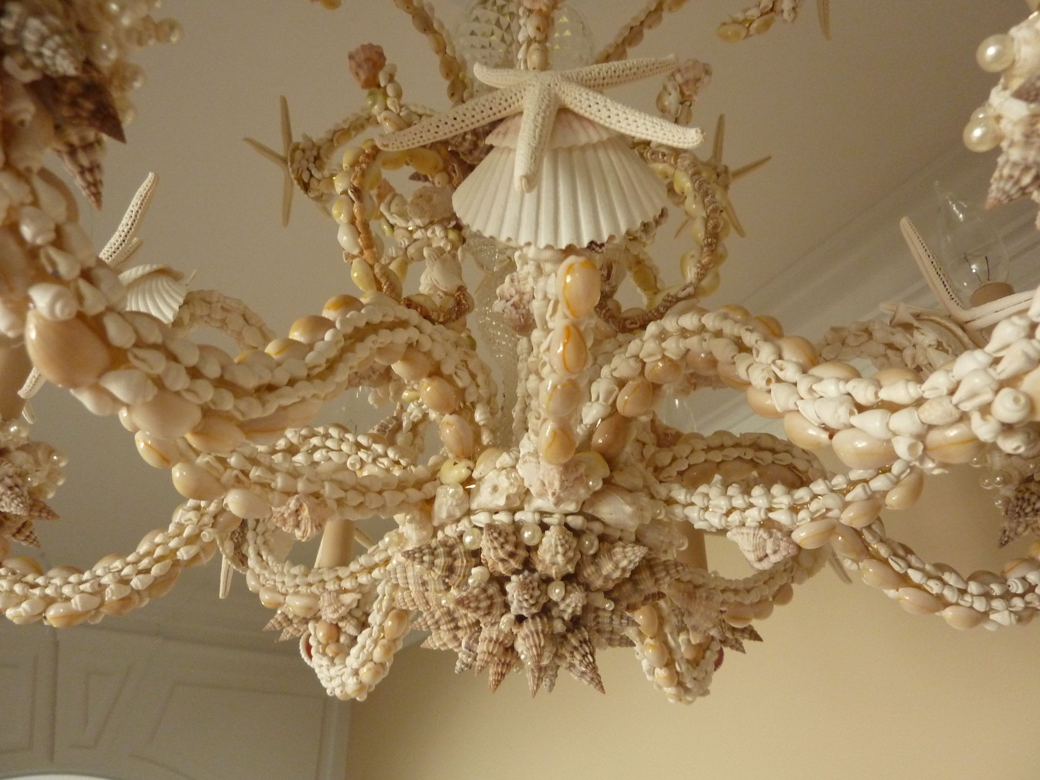 Sarahs chandelier closeup My next challenge to take on Will – Seashell Chandeliers